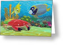 Underwater Sea Friends Greeting Card by Martin Davey