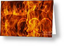 undying Olympic flame Greeting Card by Michal Boubin