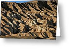Unearthly World - Death Valley's Badlands Greeting Card by Christine Till
