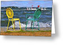 Union Chairs Greeting Card by Melanie Guest