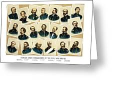 Union Commanders of The Civil War Greeting Card by War Is Hell Store