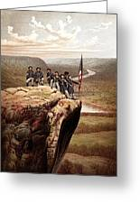 Union Soldiers On Lookout Mountain Greeting Card by War Is Hell Store