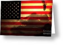 United States Of America . Land Of The Free Greeting Card by Wingsdomain Art and Photography