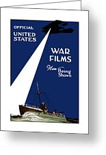 United States War Films Now Being Shown Greeting Card by War Is Hell Store