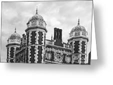 University Of Pennsylvania Quadrangle Towers Greeting Card by University Icons