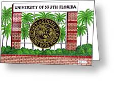 University of South Florida Greeting Card by Frederic Kohli