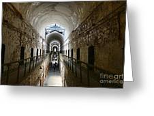 Upper Cell Blocks Greeting Card by Paul Ward