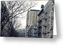 Upper West Side Winter Greeting Card by Sarah Loft