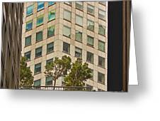 Urban Living In San Francisco Financial District Greeting Card by Mark Hendrickson