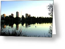 Urban Paradise Greeting Card by Will Borden