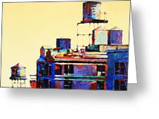Urban Rooftops Greeting Card by Patti Mollica
