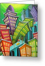 Urban Vertigo Greeting Card by Eva Folks