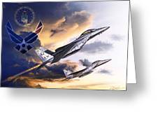 Us Air Force Greeting Card by Kurt Miller