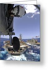 U.s. Navy Petty Officer Leans Greeting Card by Stocktrek Images