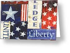 Usa Pride 1 Greeting Card by Debbie DeWitt