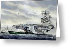 Uss Abraham Lincoln Greeting Card by James Williamson