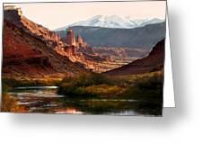 Utah Colorado River Greeting Card by Marilyn Hunt