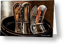 Utensils Reflected Greeting Card by Christopher Holmes