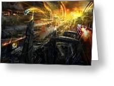 Utherworlds Battlestar Greeting Card by Philip Straub