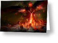 Utherworlds Hellzunas Greeting Card by Philip Straub