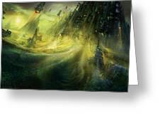 Utherworlds Monolith Greeting Card by Philip Straub