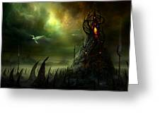 Utherworlds Where Fears Roam Greeting Card by Philip Straub