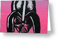 Vader in Pink Greeting Card by Jera Sky