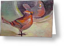 VAIN CARDINAL Greeting Card by Donna Shortt