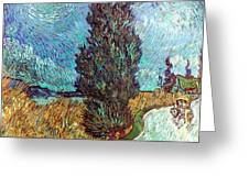 VAN GOGH: ROAD, 1890 Greeting Card by Granger