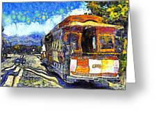 Van Gogh Vacations In San Francisco 7d14099 Greeting Card by Wingsdomain Art and Photography