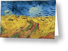 Van Gogh Wheatfield With Crows Greeting Card by Vincent Van Gogh