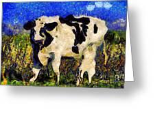 Van Gogh.s Big Bull . 7d12437 Greeting Card by Wingsdomain Art and Photography