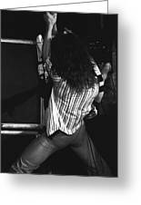 Van Halen's Guitar Eruption Greeting Card by Ben Upham