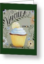 Vanilla Lemon Cupcake Greeting Card by Catherine Holman
