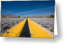 Vanishing Point Greeting Card by Peter Tellone