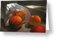 Vanzant Peaches Greeting Card by Timothy Jones