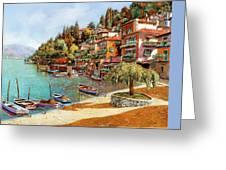Varenna On Lake Como Greeting Card by Guido Borelli