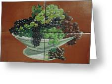 Vase With Grapes Greeting Card by Andrew Drozdowicz