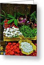 Vegetables In Florence Greeting Card by Harry Spitz