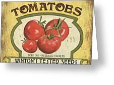 Veggie Seed Pack 3 Greeting Card by Debbie DeWitt