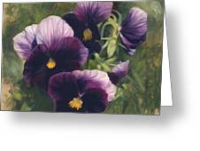 Velvet Clowns II Greeting Card by Anna Bain