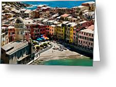 Venazza Cinque Terre Italy Greeting Card by Xavier Cardell