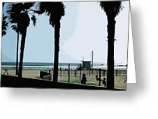 Venice Beach California Greeting Card by Phill Petrovic