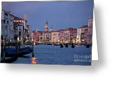 Venice Blue Hour 2 Greeting Card by Heiko Koehrer-Wagner