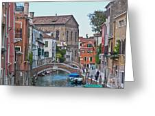 Venice Double Bridge Greeting Card by Heiko Koehrer-Wagner