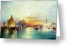 Venice Greeting Card by Thomas Moran