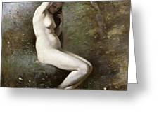 Venus Bathing Greeting Card by Jean Baptiste Camille Corot