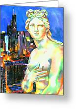 Venus In The City Greeting Card by Christy  Freeman