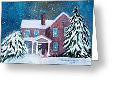 Vermont Studio Center In Winter Greeting Card by Donna Walsh
