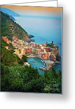 Vernazza From Above Greeting Card by Inge Johnsson